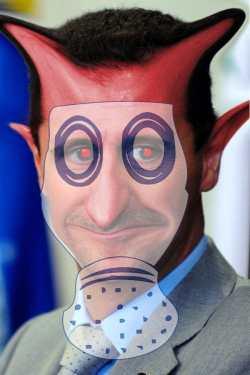 Bashar_al-Assad_gasmaske-devil